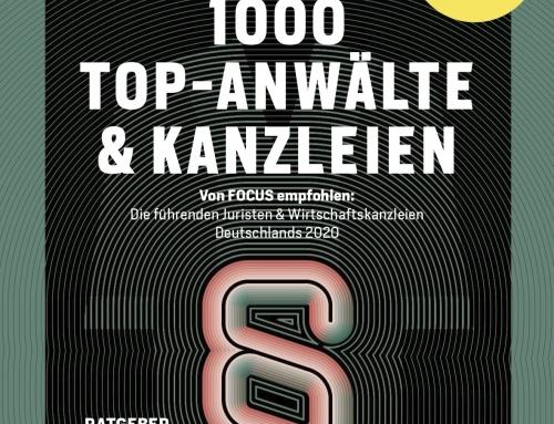 Auch 2020 zählt Rechtsanwalt Stephan Volpp zu den TOP Rechtsanwälten der FOCUS Spezial Anwaltsliste